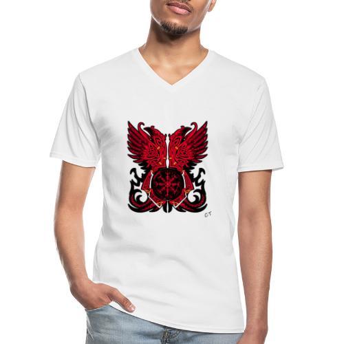 vikings - Maglietta da uomo classica con scollo a V