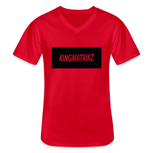 kingmatrikz - Klassisk herre T-shirt med V-udskæring