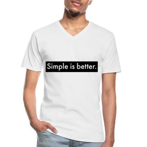 Simple Is Better - Men's V-Neck T-Shirt