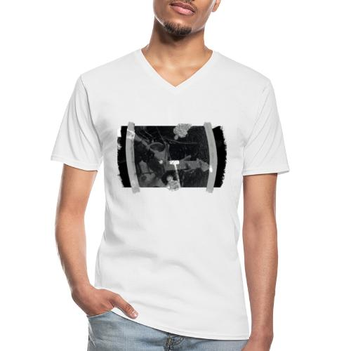Men at Work (with black PS logo) - Klassisk herre T-shirt med V-udskæring