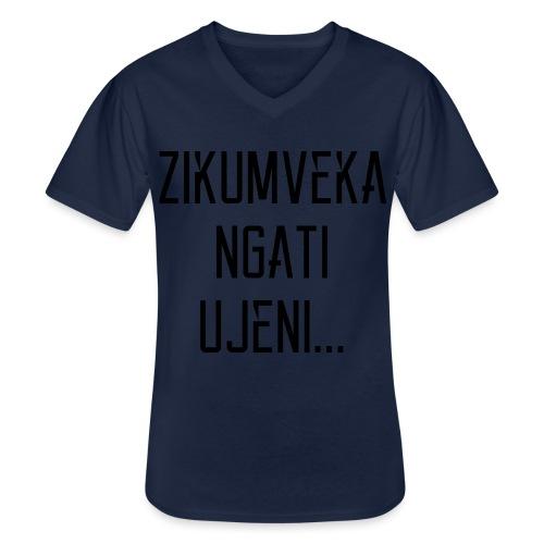 Zikumveka Ngati Black - Men's V-Neck T-Shirt