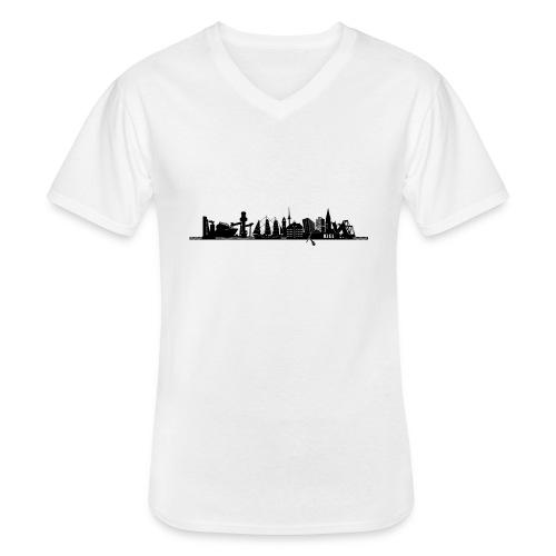 KIEL SILHOUETTE - Klassisches Männer-T-Shirt mit V-Ausschnitt