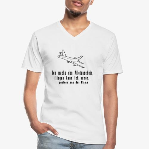 Airbus - Klassisches Männer-T-Shirt mit V-Ausschnitt