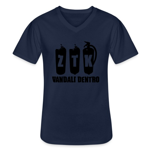ZTK Vandali Dentro Morphing 1 - Men's V-Neck T-Shirt