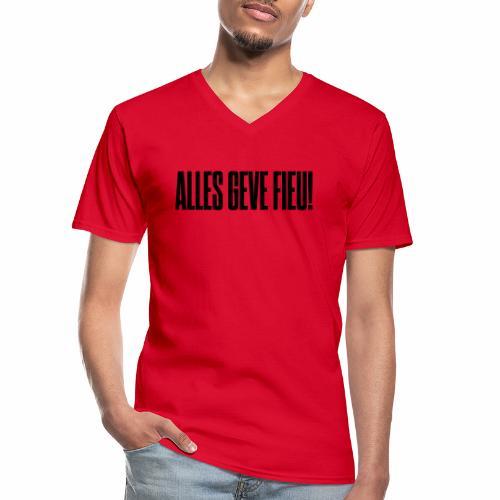 Alles Geve Fieu - Klassiek mannen T-shirt met V-hals