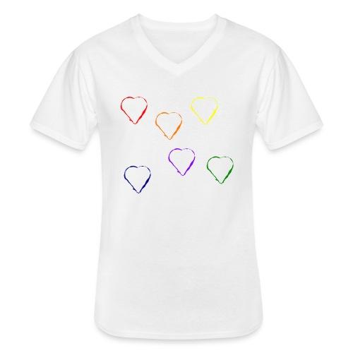 Tanzende Herzen 20.1 - Klassisches Männer-T-Shirt mit V-Ausschnitt