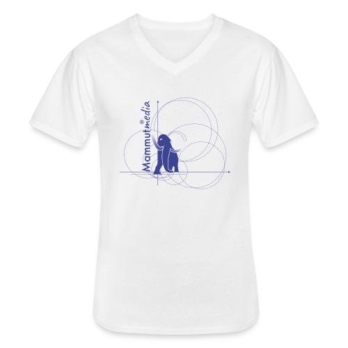 Mammutmedia magliette - Maglietta da uomo classica con scollo a V