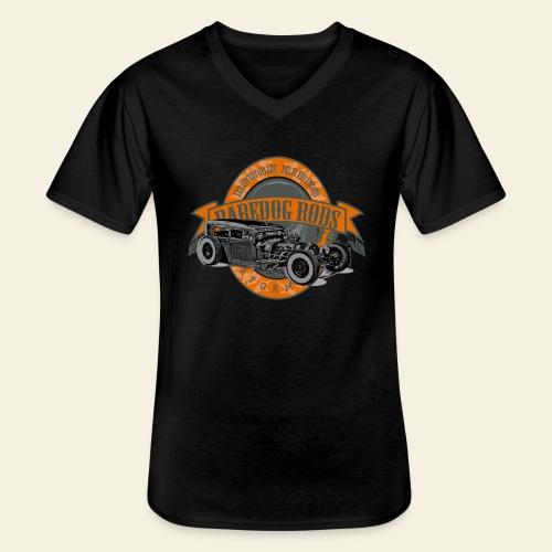 Raredog Rods Logo - Klassisk herre T-shirt med V-udskæring