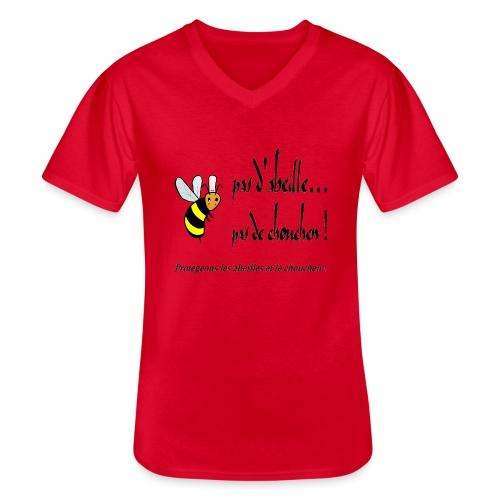 Pas d'abeille, pas de chouchen - T-shirt classique col V Homme