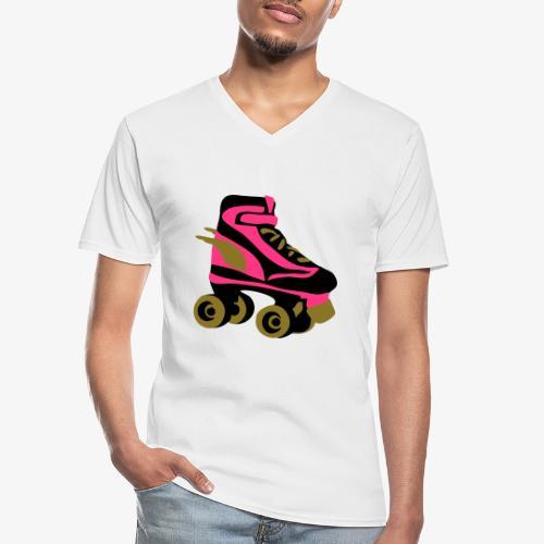 roller skate wings by patjila - Men's V-Neck T-Shirt