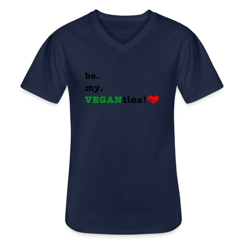 VEGANtine Green - Men's V-Neck T-Shirt