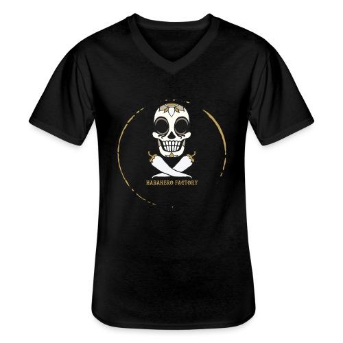 Logo HABANERO FACTORY - Maglietta da uomo classica con scollo a V