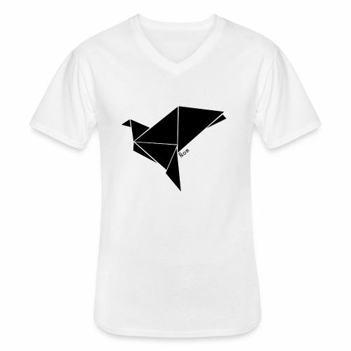 Origami - T-shirt classique col V Homme