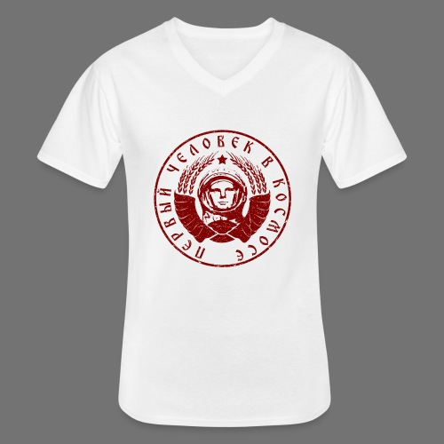 Cosmonaut 1c red (oldstyle) - Men's V-Neck T-Shirt