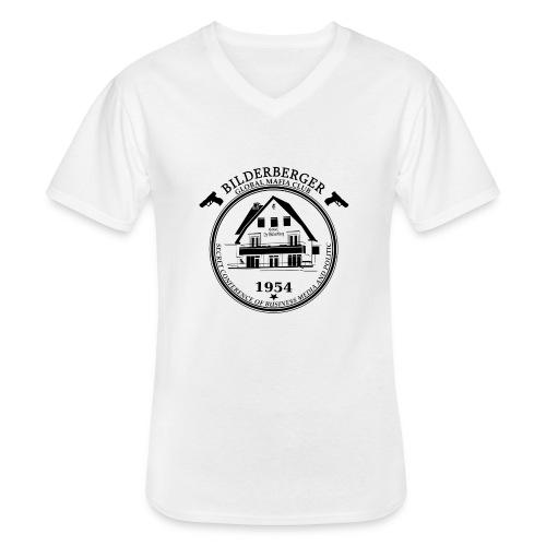 Bilderberg Logo - Klassisches Männer-T-Shirt mit V-Ausschnitt
