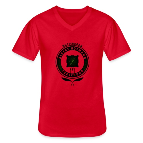AlbertHofmann_Forschung - Klassisches Männer-T-Shirt mit V-Ausschnitt