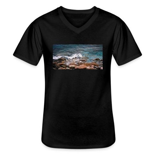 Handy Hülle Meer - Klassisches Männer-T-Shirt mit V-Ausschnitt