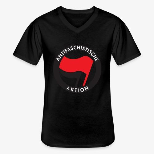 Atnifaschistische Action - Antifa Logo - Men's V-Neck T-Shirt