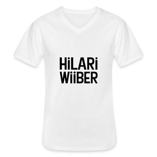 Hilari Wiiber Family - Klassisches Männer-T-Shirt mit V-Ausschnitt
