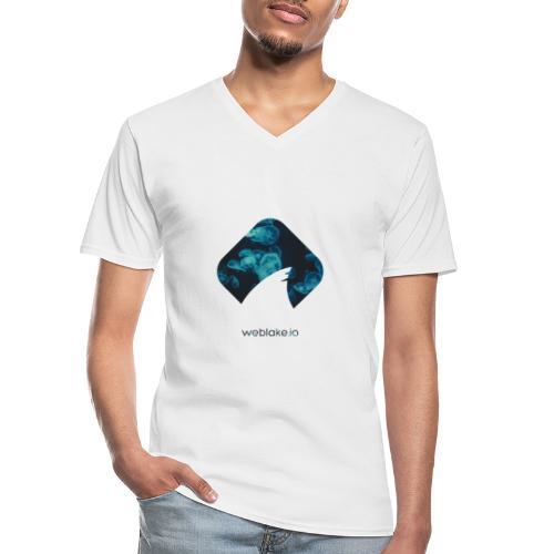 Weblake Blue - Klassisches Männer-T-Shirt mit V-Ausschnitt