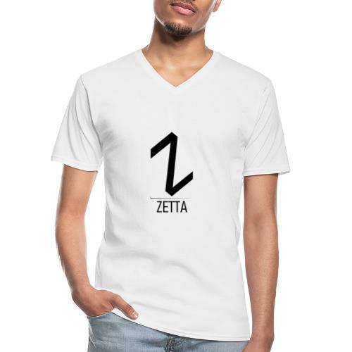 ZettaGamer - Camiseta clásica con cuello de pico hombre