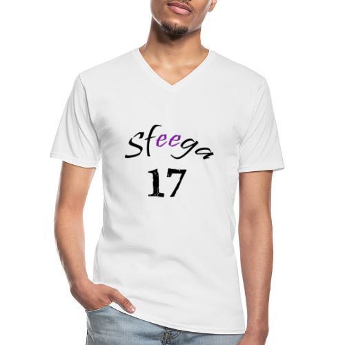 Sfeega - Maglietta da uomo classica con scollo a V