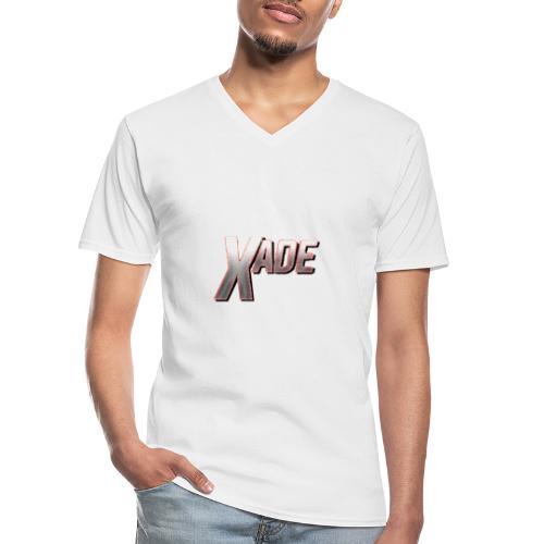 XaD3 LoGo - Klassisches Männer-T-Shirt mit V-Ausschnitt