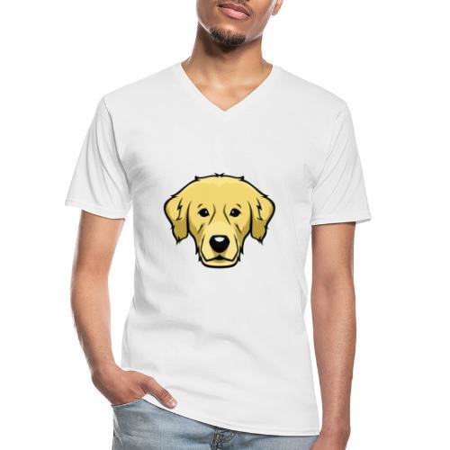 Perro - Camiseta clásica con cuello de pico hombre