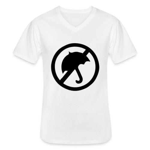 rainmakerlogo - Klassinen miesten t-paita v-pääntiellä
