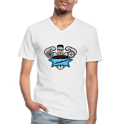 AGM 2021 Logo FCKCORONA 210406 - Klassisches Männer-T-Shirt mit V-Ausschnitt