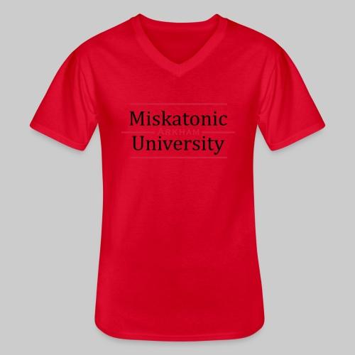 Miskatonic University - Klassisches Männer-T-Shirt mit V-Ausschnitt