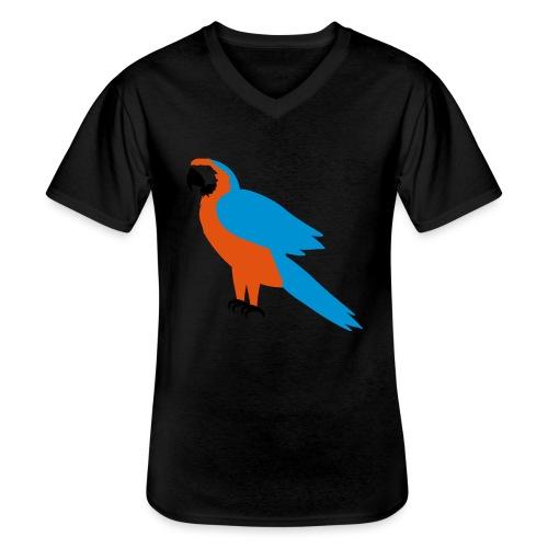 Parrot - Maglietta da uomo classica con scollo a V