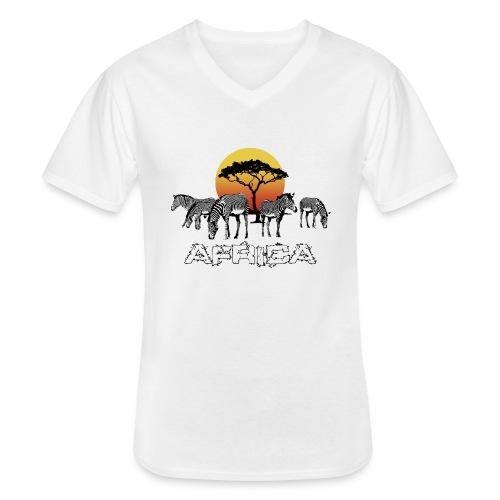 Zebras Afrika Wild Pferde Equus Serengeti Safari - Men's V-Neck T-Shirt