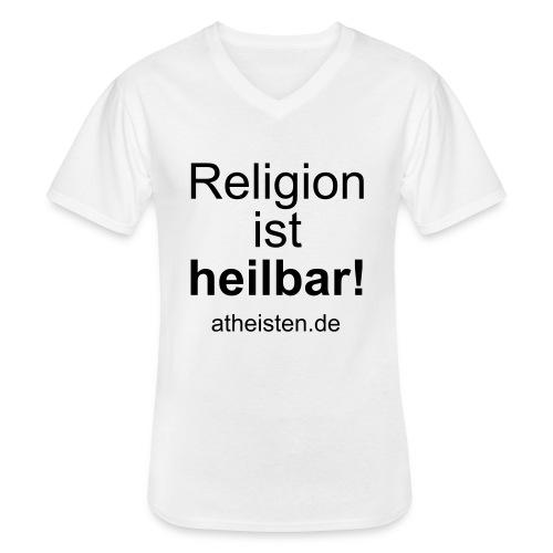 religion_ist_heilbar - Klassisches Männer-T-Shirt mit V-Ausschnitt