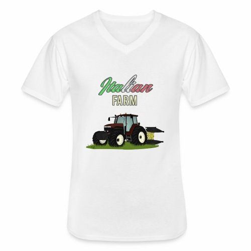 Italian Farm official T-SHIRT - Maglietta da uomo classica con scollo a V