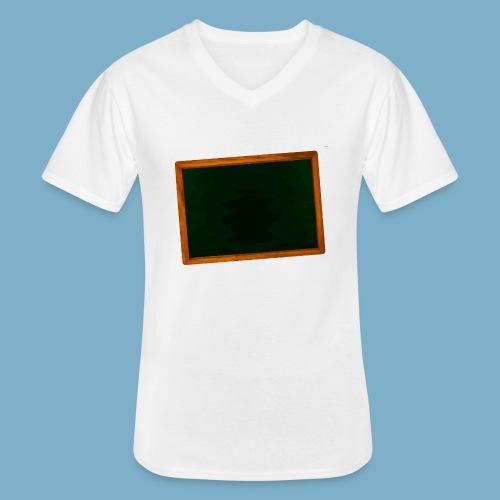 Schul Tafel - Klassisches Männer-T-Shirt mit V-Ausschnitt