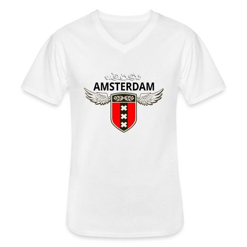 Amsterdam Netherlands - Klassisches Männer-T-Shirt mit V-Ausschnitt