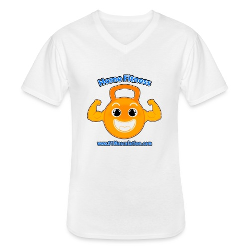 Logo 01Musculation Home Fitness Kettlebell - T-shirt classique col V Homme