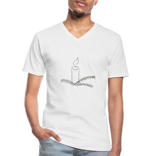 Klar til jul - Klassisk herre T-shirt med V-udskæring