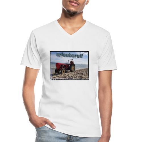 urlaubsreif - Klassisches Männer-T-Shirt mit V-Ausschnitt