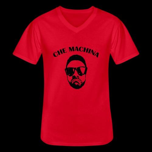 CHE MACHINA - Maglietta da uomo classica con scollo a V