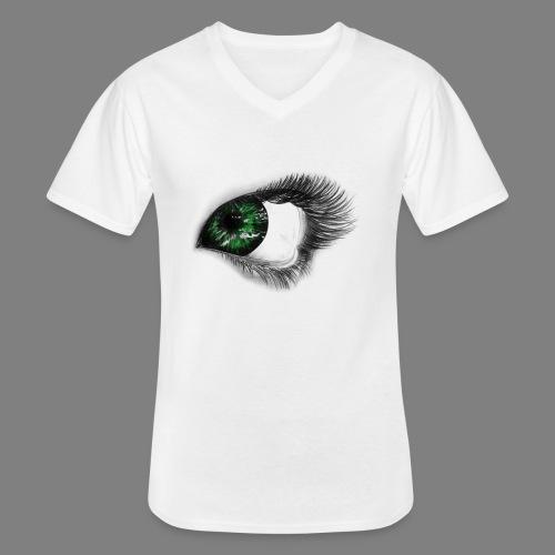 Auge 1 - Klassisches Männer-T-Shirt mit V-Ausschnitt