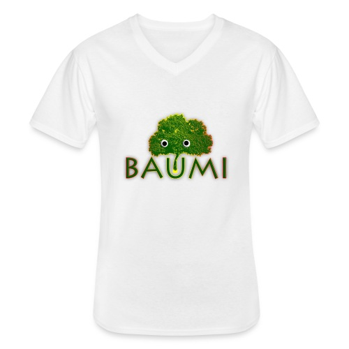 Baumi - Klassisches Männer-T-Shirt mit V-Ausschnitt