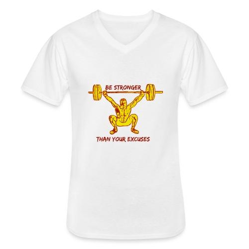 Be Stronger Than Your Excuses - Maglietta da uomo classica con scollo a V