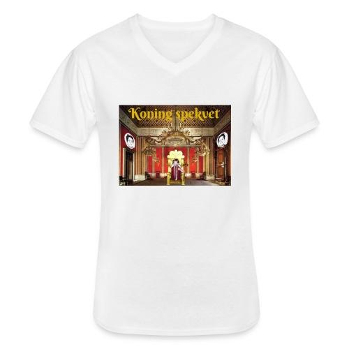 Koning Spekvet - Klassiek mannen T-shirt met V-hals