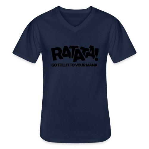 RATATA full - Klassisches Männer-T-Shirt mit V-Ausschnitt