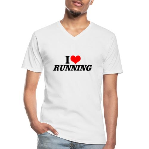 I love running - Klassisches Männer-T-Shirt mit V-Ausschnitt