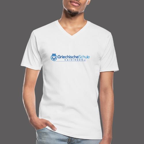 Griechische Schule Vaihingen e.V. - Klassisches Männer-T-Shirt mit V-Ausschnitt