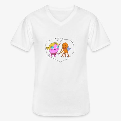 les meilleurs amis - T-shirt classique col V Homme