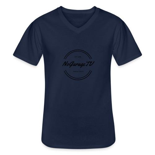 NoGarageTV (3) - Klassisk herre T-shirt med V-udskæring